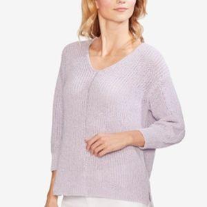 Vince Camuto Sweater Lilac Purple 3/4 Sleeve Sz M